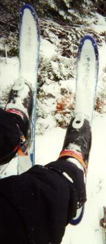 Picture of SnowBlades taken while I was riding a chairlift